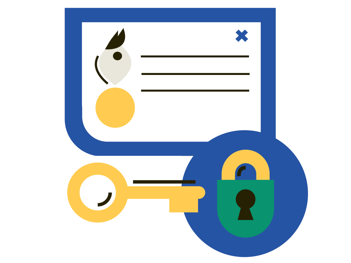 Personal data Clipart illustration in PNG, SVG