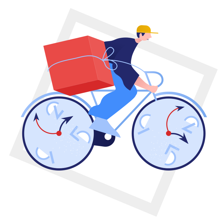 style Fast delivery right in time Vector images in PNG and SVG | Icons8 Illustrations