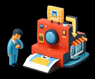 Иллюстрация Принтер в стиле  в PNG и SVG | Icons8 Иллюстрации