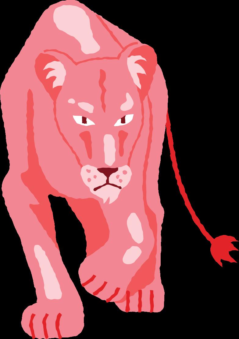 lioness Clipart illustration in PNG, SVG