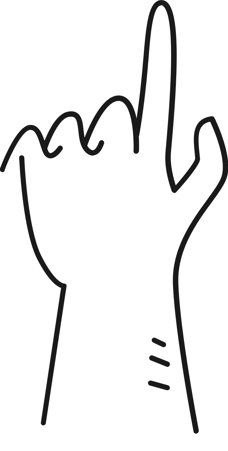 hand pointing up Clipart illustration in PNG, SVG