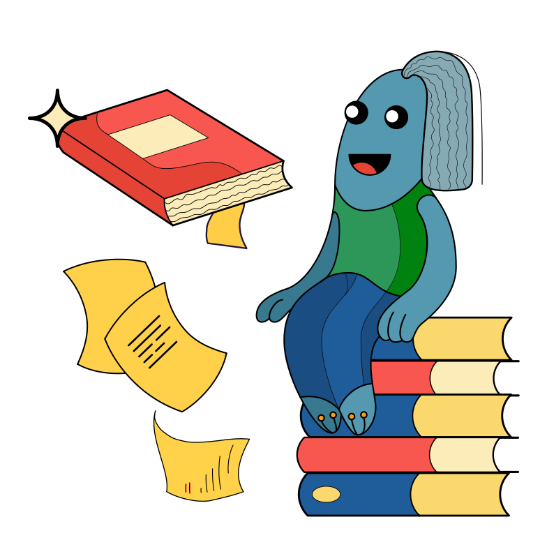 Love of books Clipart illustration in PNG, SVG