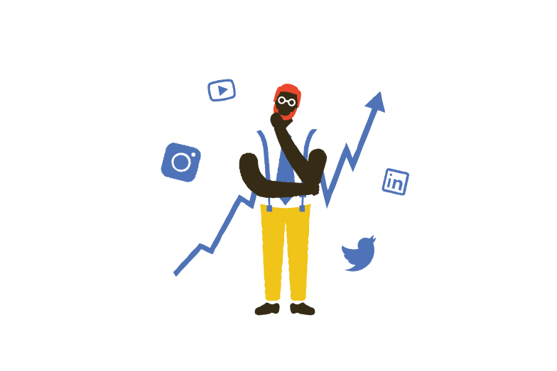 Social media issues Clipart illustration in PNG, SVG