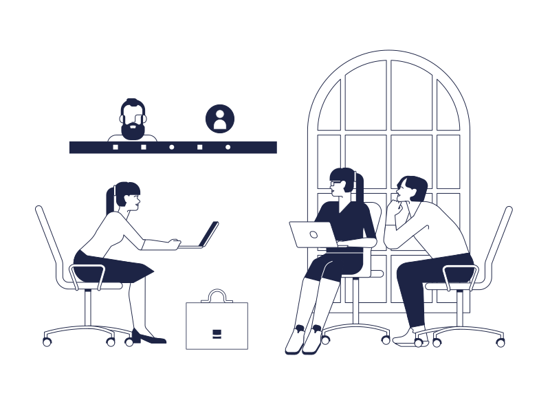 Zoom meeting Clipart illustration in PNG, SVG