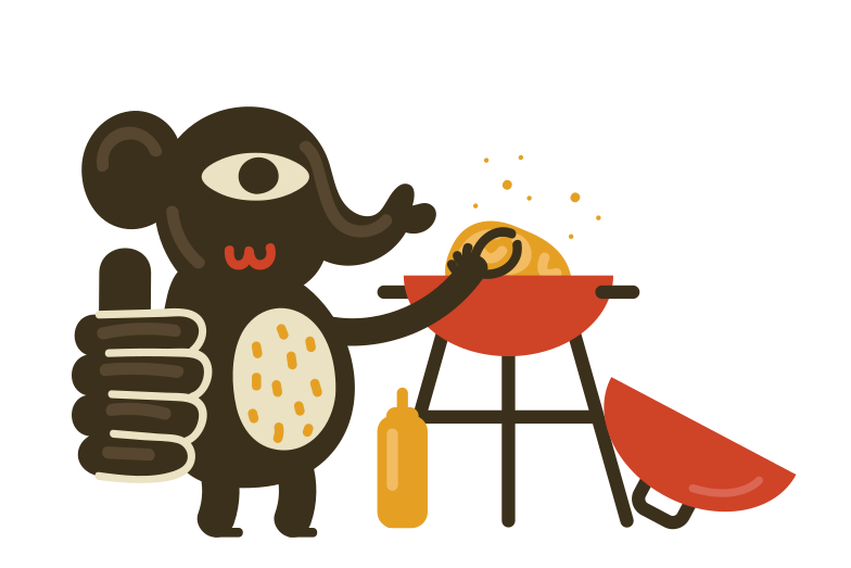 Food is ready Clipart illustration in PNG, SVG