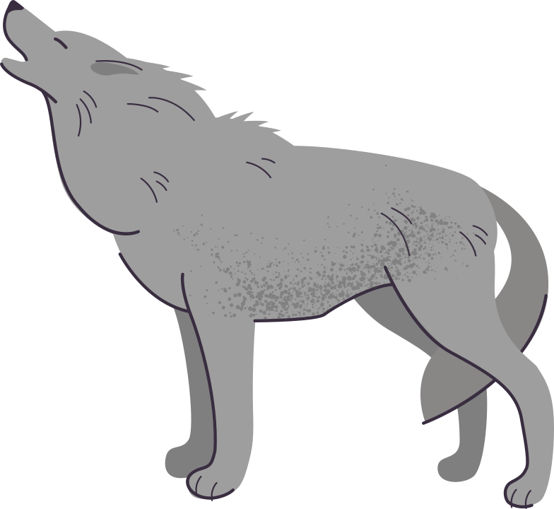wolf Clipart illustration in PNG, SVG