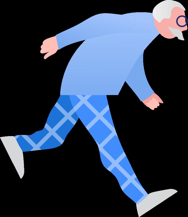 grandpa running Clipart illustration in PNG, SVG