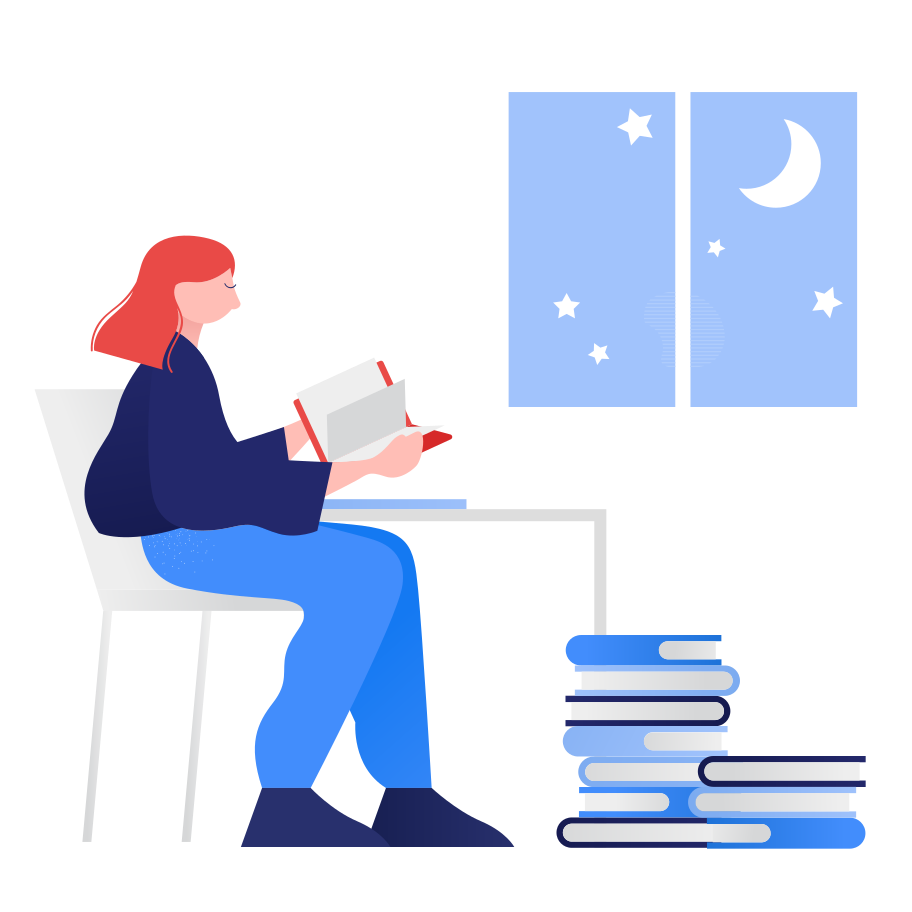 style Studying at night Vector images in PNG and SVG   Icons8 Illustrations