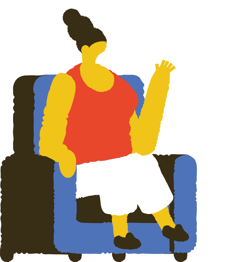 woman sitting and talking Clipart illustration in PNG, SVG