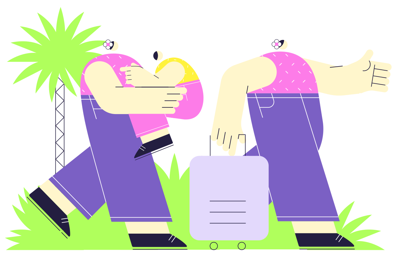 Family vacation Clipart illustration in PNG, SVG