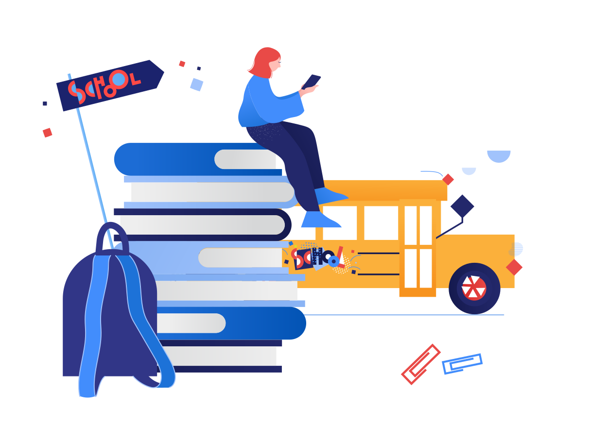 School time Clipart illustration in PNG, SVG