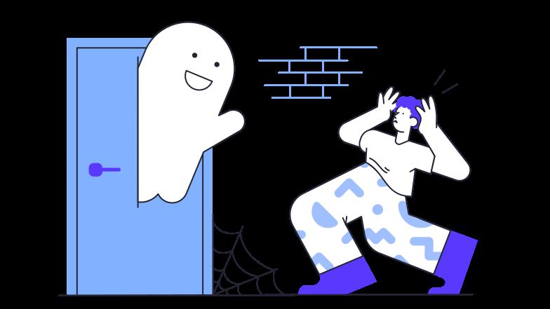 PNGとSVGの  スタイルの ハロウィーンの幽霊が怖い ベクターイメージ | Icons8 イラスト