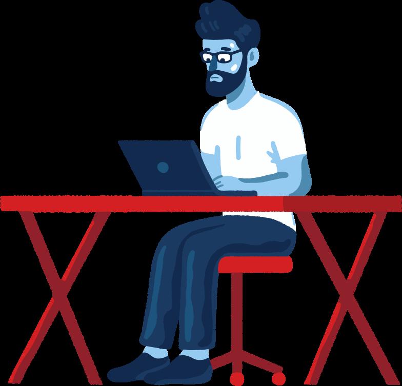 programmer Clipart illustration in PNG, SVG