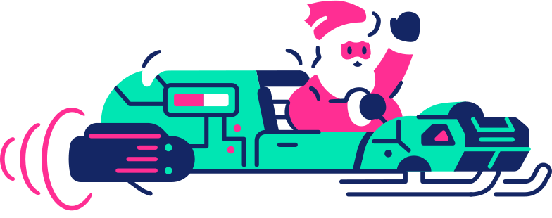 sleigh with santa Clipart illustration in PNG, SVG