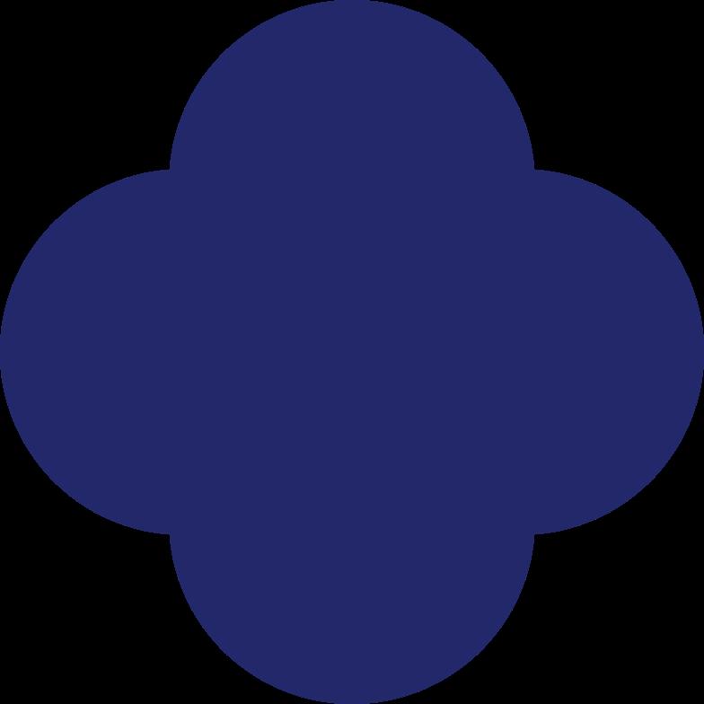 quatrefoil dark blue Clipart illustration in PNG, SVG