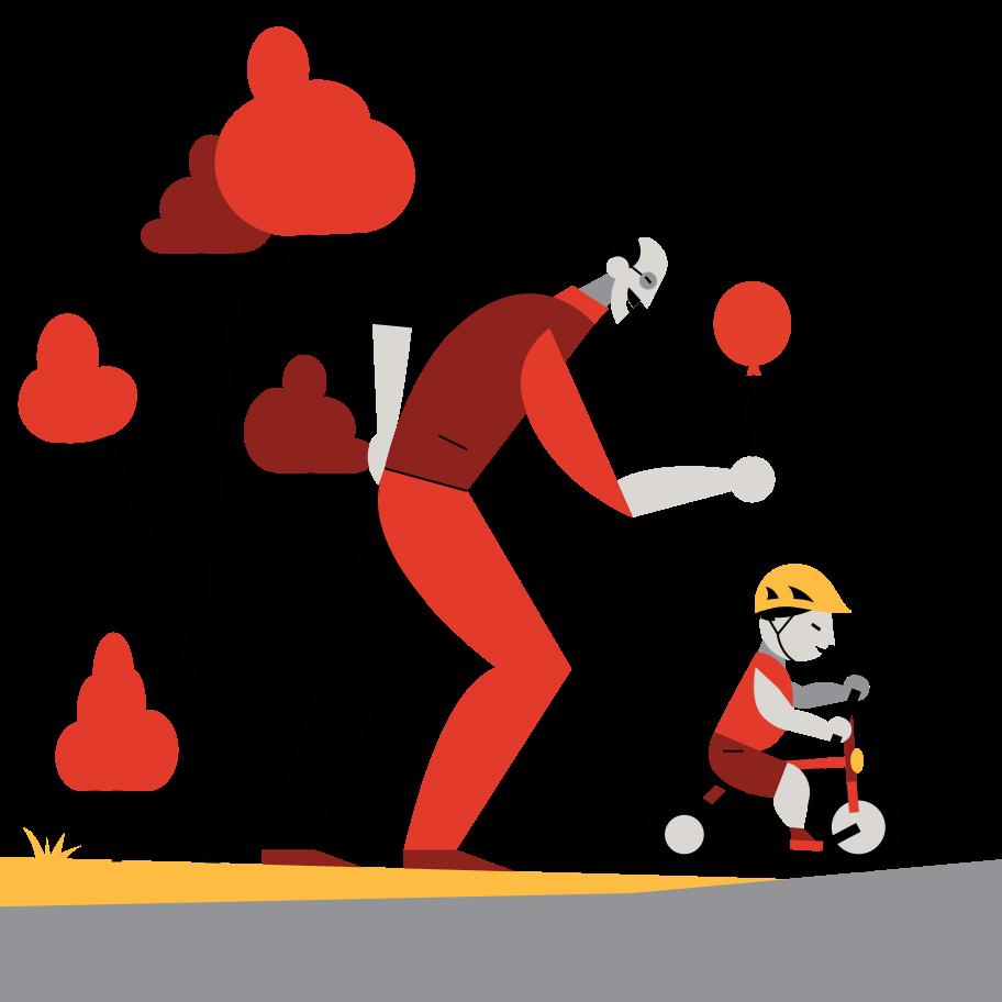 Children care Clipart illustration in PNG, SVG