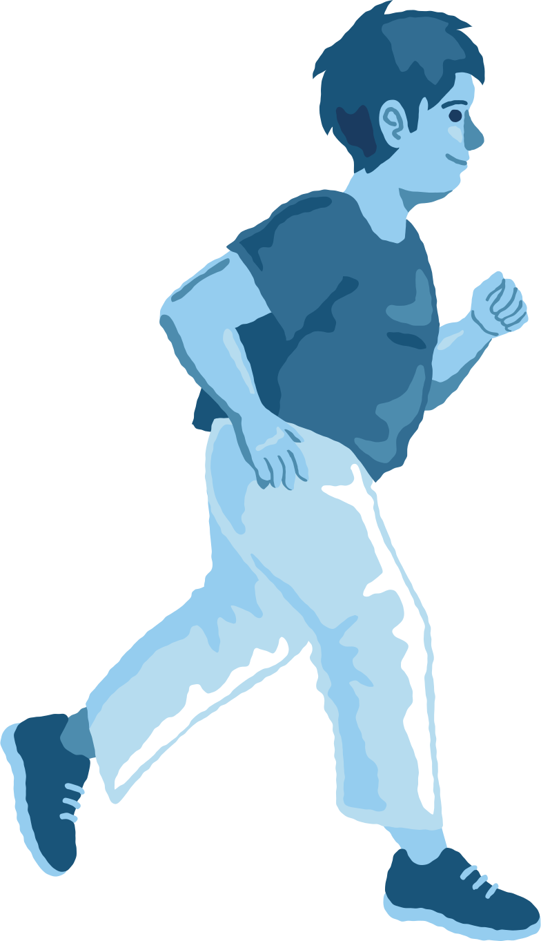 chubby boy running Clipart illustration in PNG, SVG
