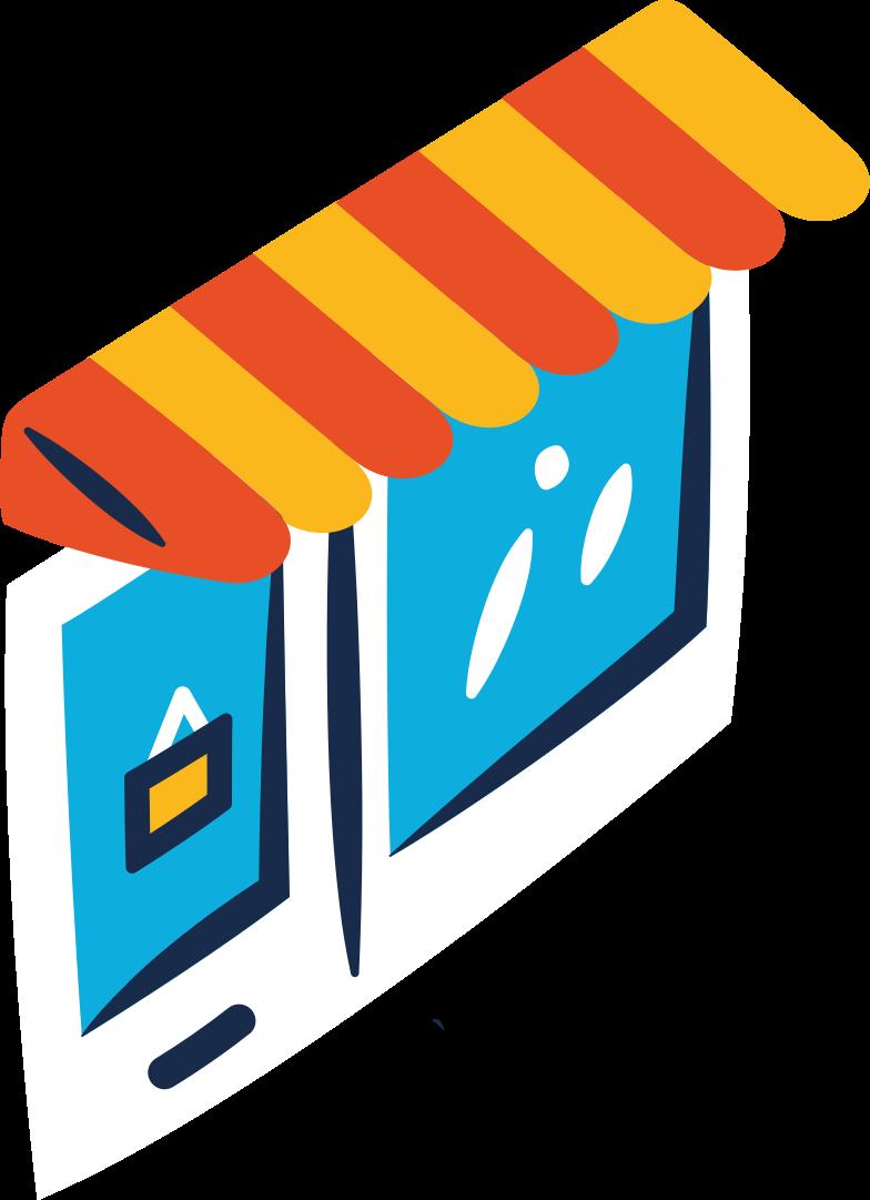 shop entrance Clipart illustration in PNG, SVG
