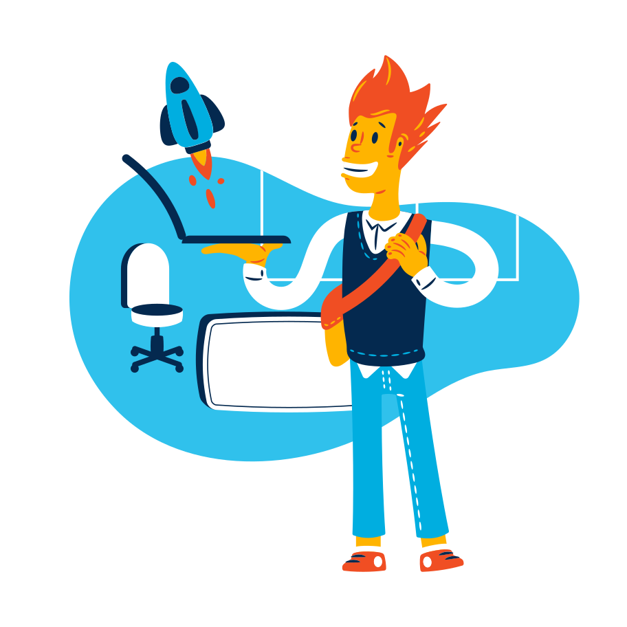 The start up launching Clipart illustration in PNG, SVG