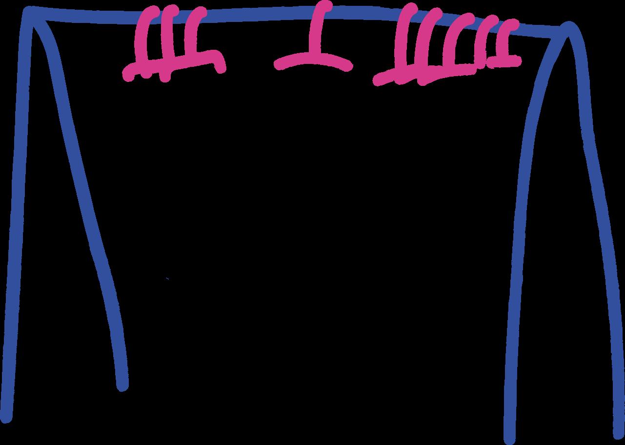 clothes hanger Clipart illustration in PNG, SVG