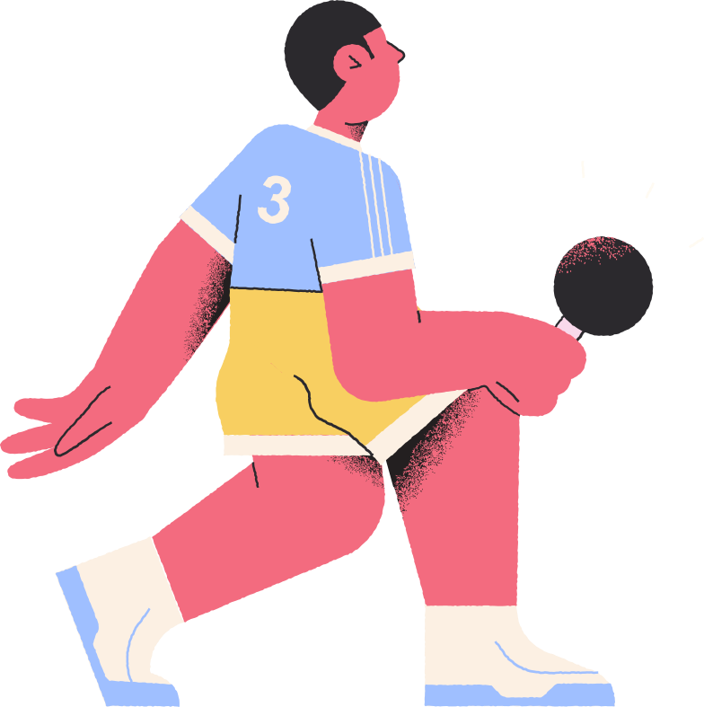 table tennis player Clipart illustration in PNG, SVG
