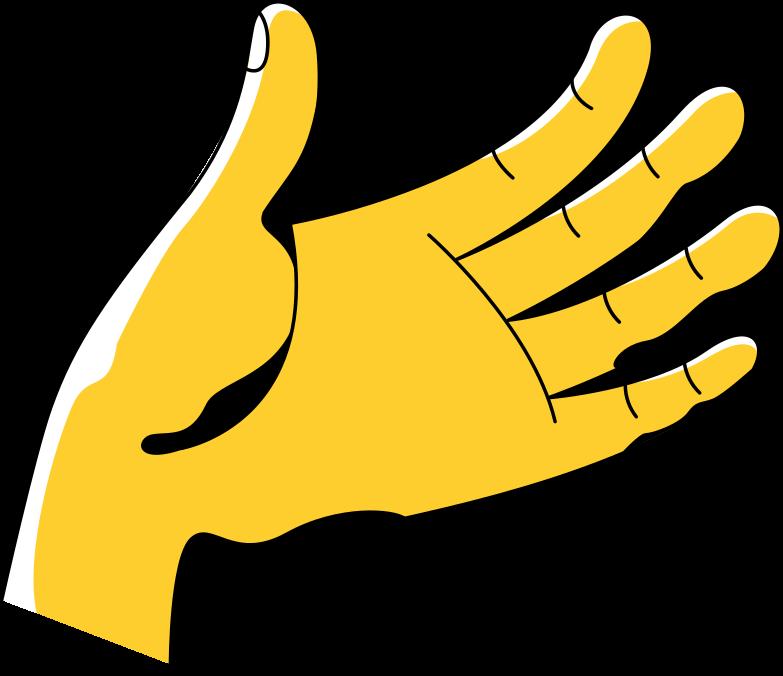 messaging  left hand Clipart illustration in PNG, SVG