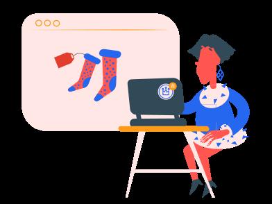 Иллюстрация Онлайн шоппинг в стиле  в PNG и SVG   Icons8 Иллюстрации