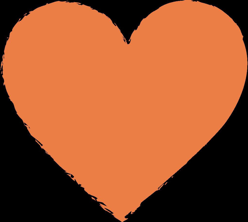 heart-orange Clipart illustration in PNG, SVG