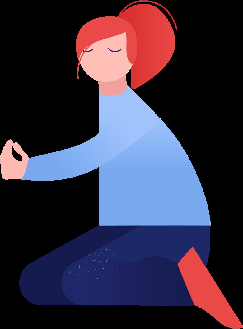 girl sitting Clipart illustration in PNG, SVG