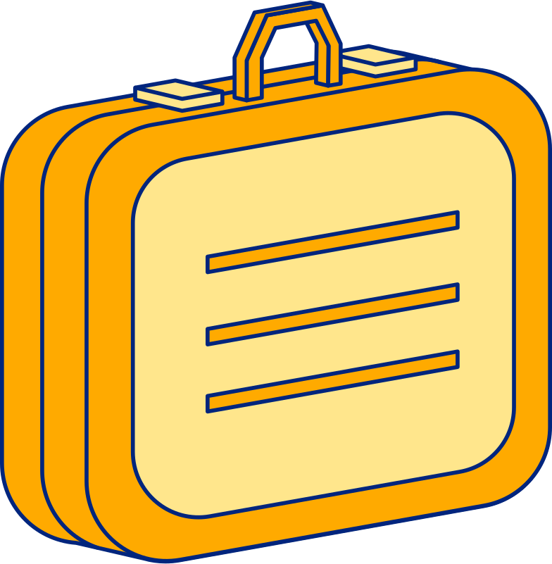 suitcase Clipart illustration in PNG, SVG