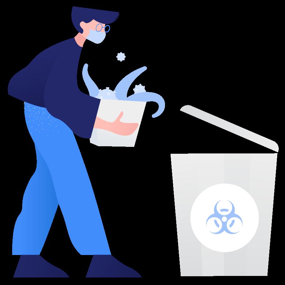 Abfallsortierung - biogefährdung Clipart-Grafik als PNG, SVG
