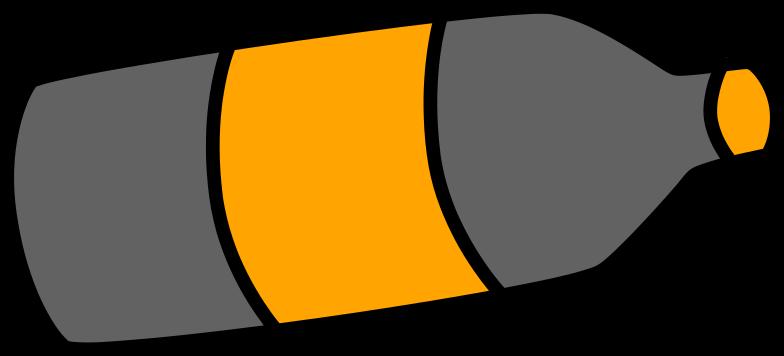 grey bottle Clipart illustration in PNG, SVG