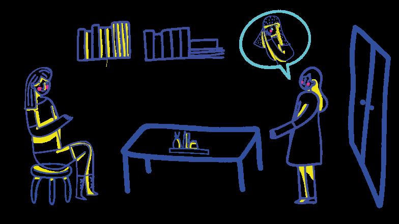 Psychologist visit Clipart illustration in PNG, SVG