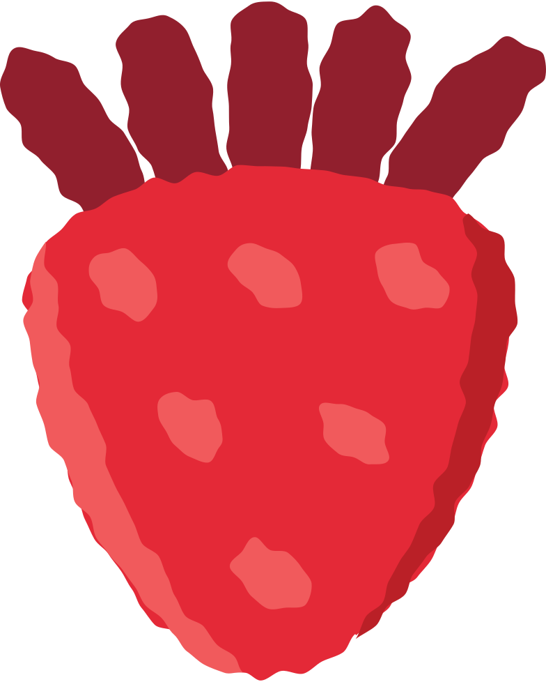 strawberry Clipart illustration in PNG, SVG