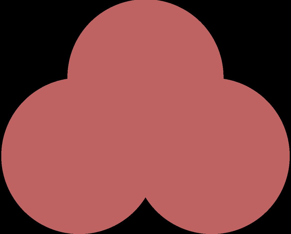 trefoil burgundy Clipart illustration in PNG, SVG
