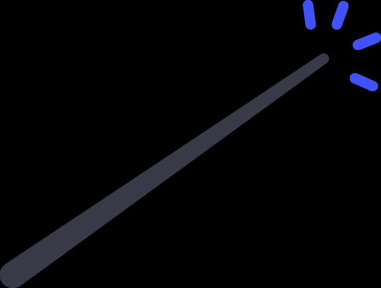 Клипарт Волшебная палочка в PNG и SVG