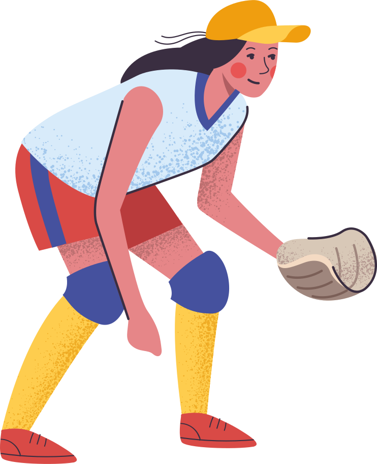 softball player Clipart illustration in PNG, SVG