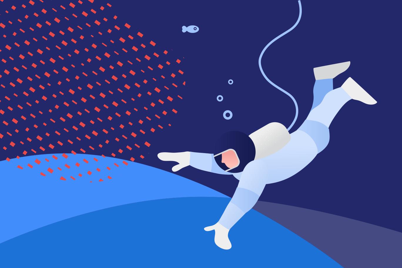 Deep diving Clipart illustration in PNG, SVG
