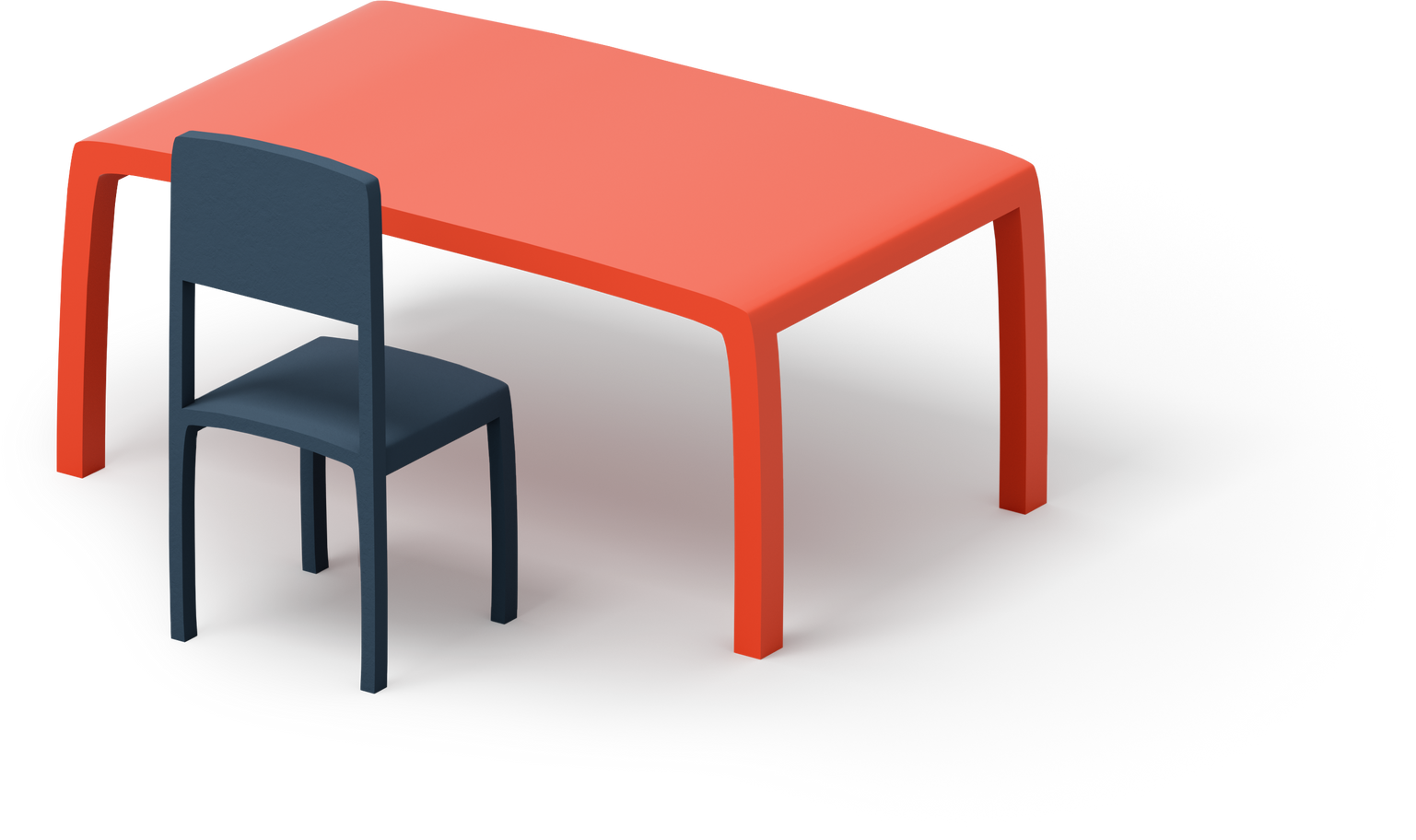 class table with chair Clipart illustration in PNG, SVG