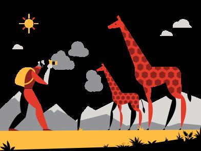 Иллюстрация Сафари в стиле  в PNG и SVG | Icons8 Иллюстрации