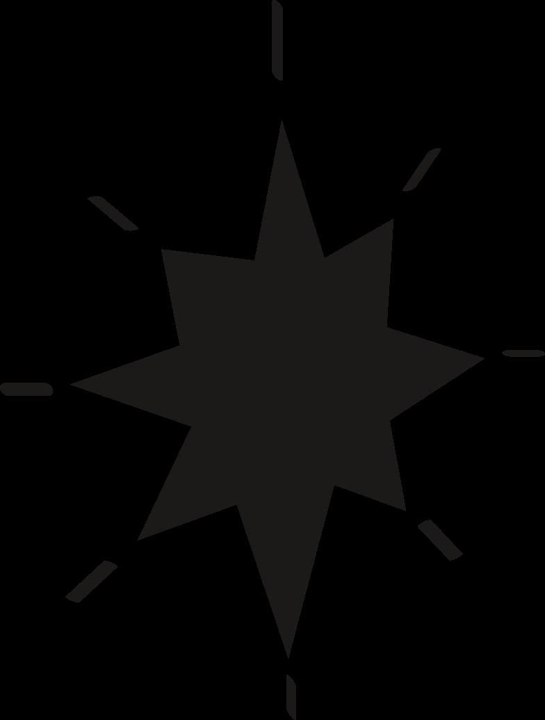tk black star Clipart illustration in PNG, SVG