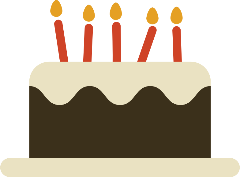 birthday cake with candles Clipart illustration in PNG, SVG