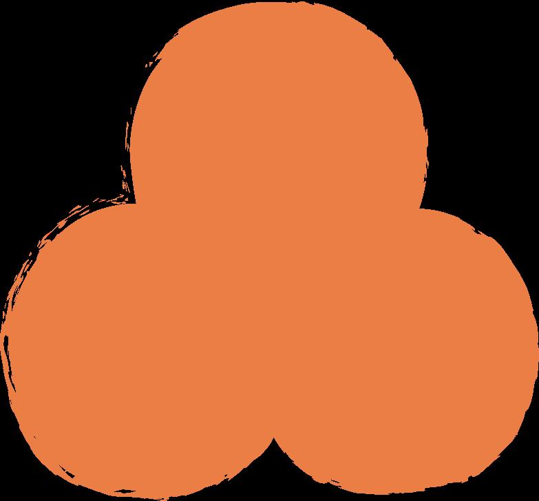 Kleeblatt-orange Clipart-Grafik als PNG, SVG
