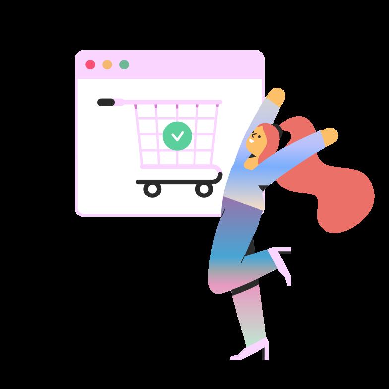 Online shopping order  Clipart illustration in PNG, SVG