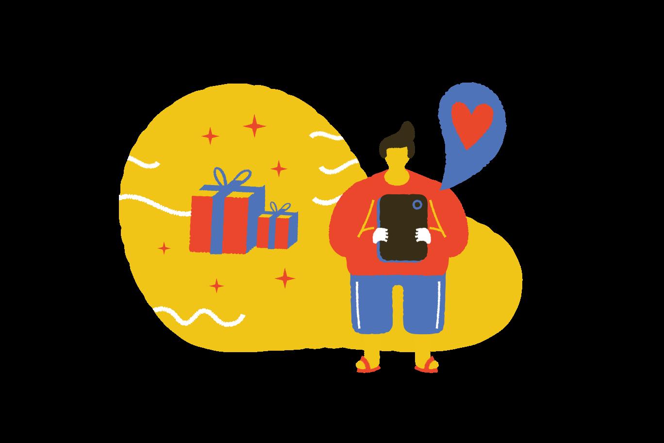 Sending the gift  Clipart illustration in PNG, SVG