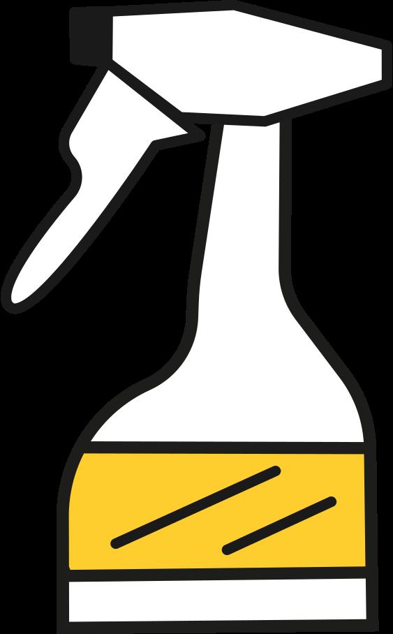 bottle cleaning fluid Clipart illustration in PNG, SVG