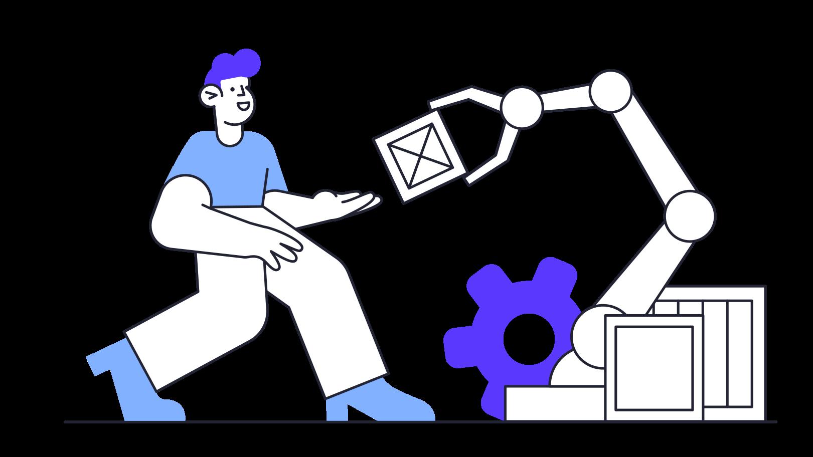 Automatização Clipart illustration in PNG, SVG