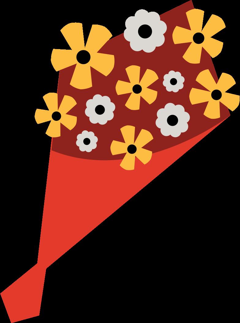 flower bouquet Clipart illustration in PNG, SVG