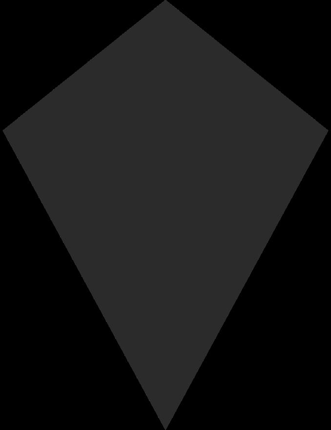 kite black Clipart illustration in PNG, SVG
