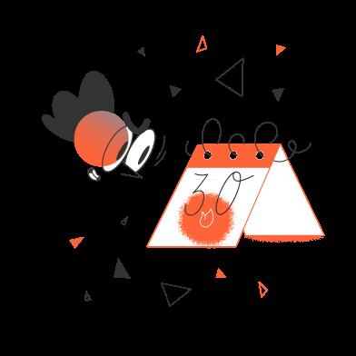 Иллюстрация Срок установлен в стиле  в PNG и SVG | Icons8 Иллюстрации